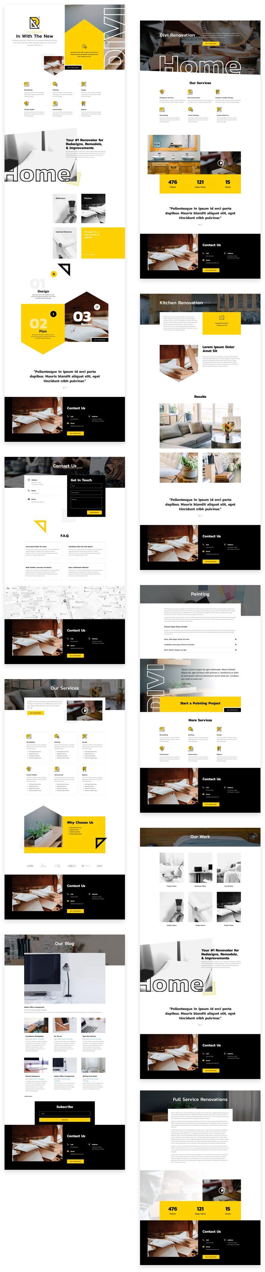 Site pour Entreprise de rénovation