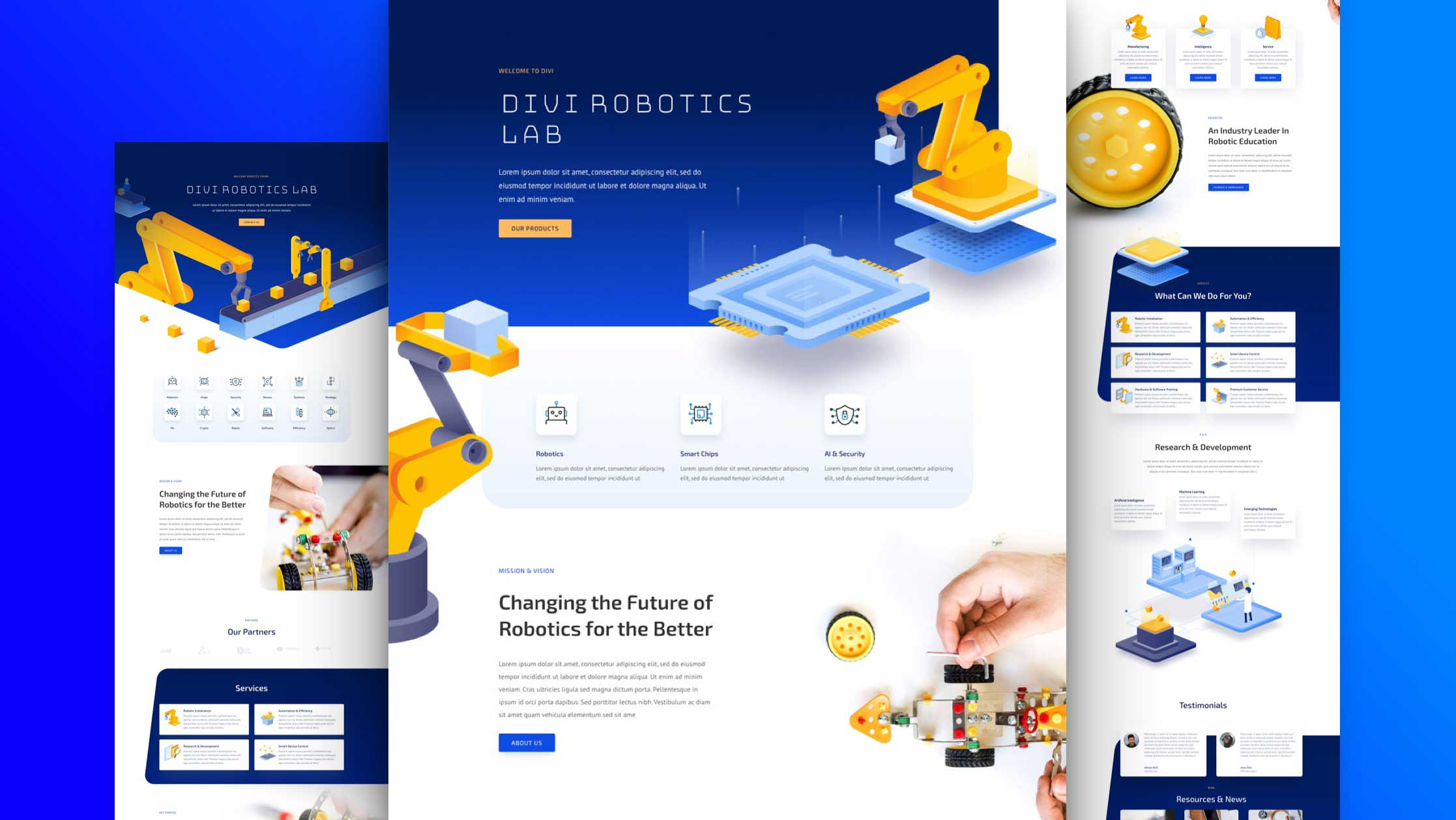 Get a FREE Robotics Layout Pack for Divi