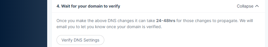 Verifying your DNS records.