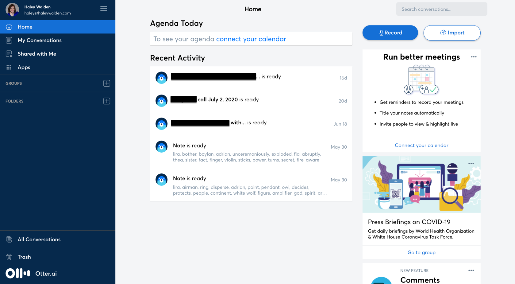One of the best productivity apps for live conversations