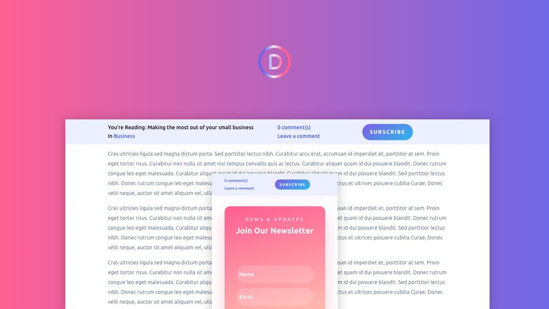 How to Create a Dynamic Post Info Bar for your Divi Blog Post Template