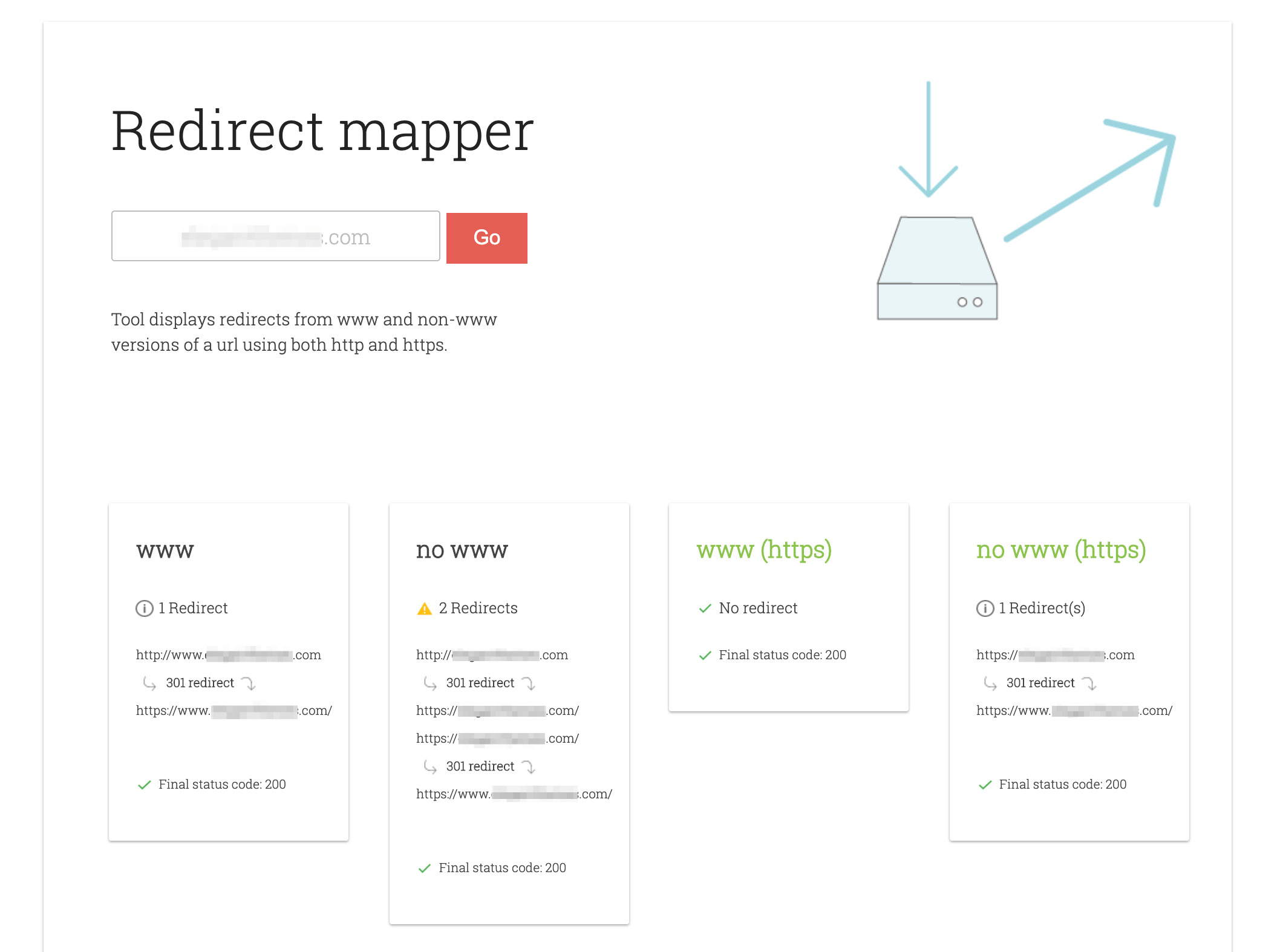 Redirect mapper results.