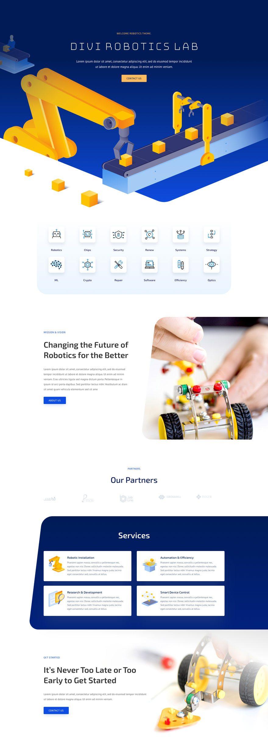 divi robotics layout pack