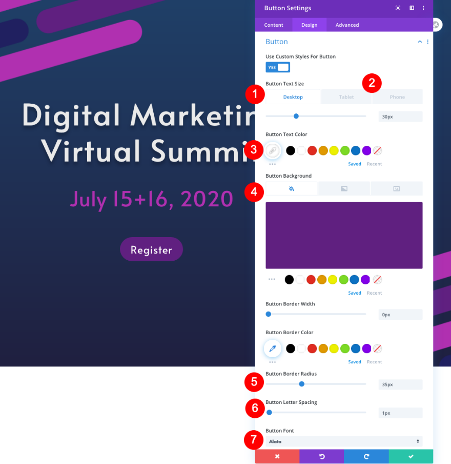 virtual summit landing page