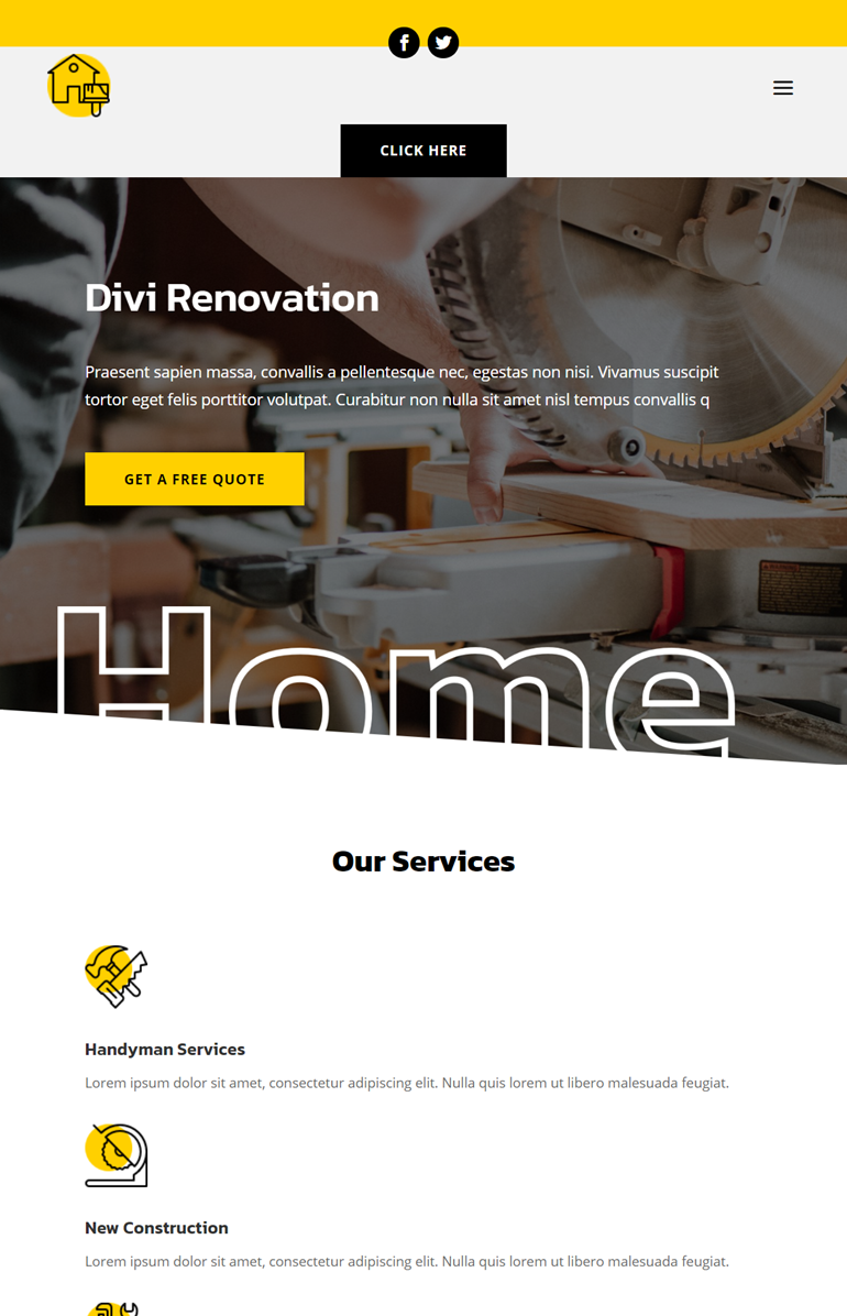 renovation header footer template