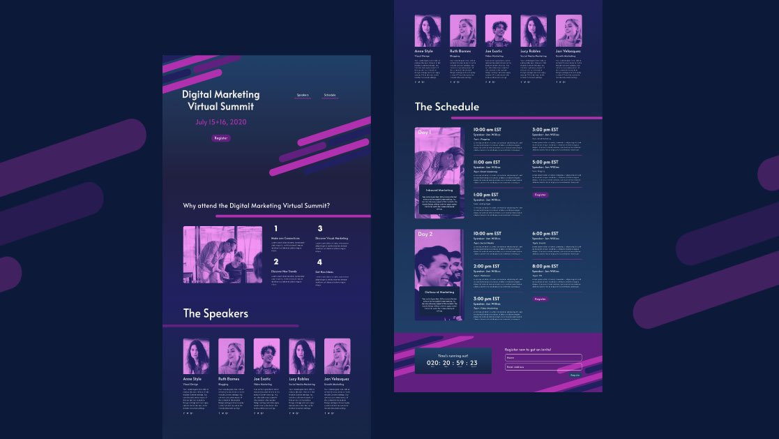 How to Create a Virtual Summit Landing Page with Divi