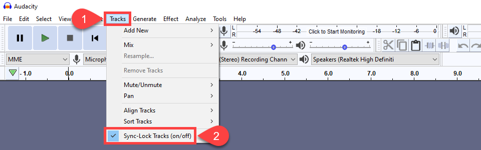 how to edit a podcast with sync-locked tracks