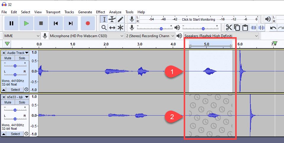 sync-locked tracks