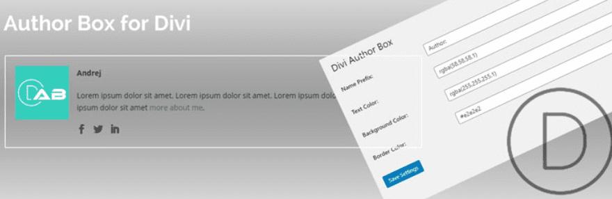 The Author Box for Divi plugin.