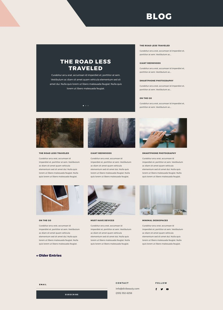 divi beauty product layout pack