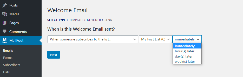 Configuring your email settings.