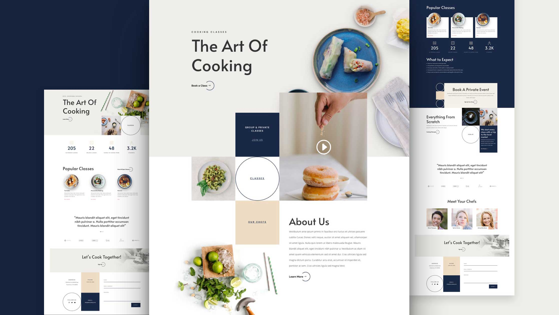 Get a FREE Cooking School Layout Pack for Divi