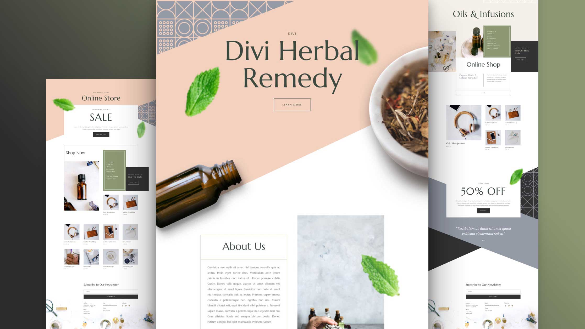 Get a FREE Herbal Remedy Layout Pack for Divi