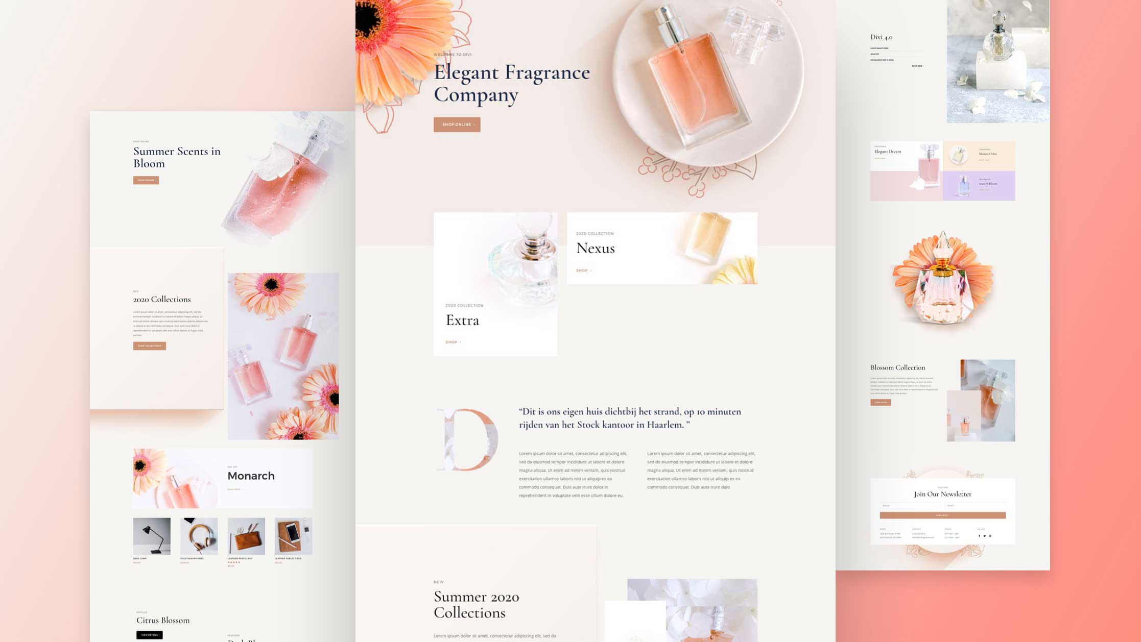 Get a FREE Perfumery Layout Pack for Divi