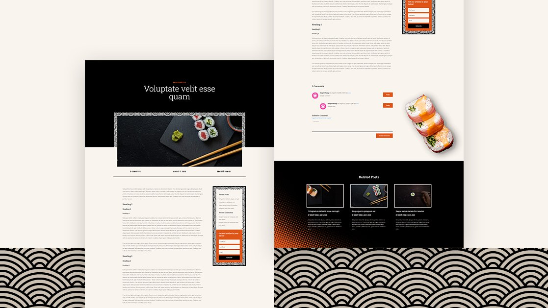 Download a FREE Blog Post Template for Divi's Sushi Restaurant Layout Pack