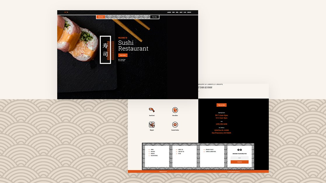 Download a FREE Header & Footer Template for Divi's Sushi Restaurant Layout Pack