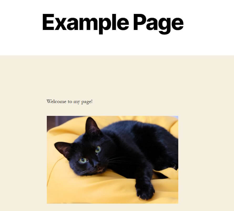 A simple example page.