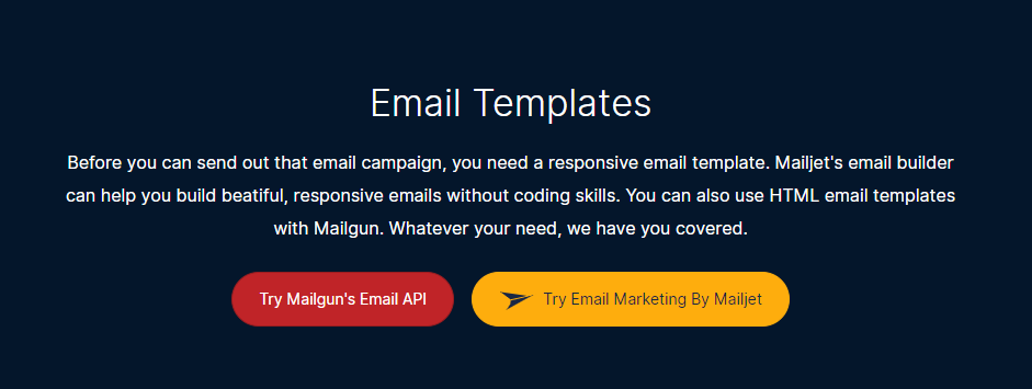 Mailgun's Mailjet integration.