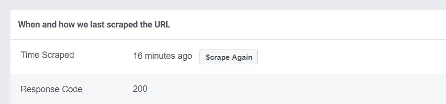 Using the Scrape Again feature.