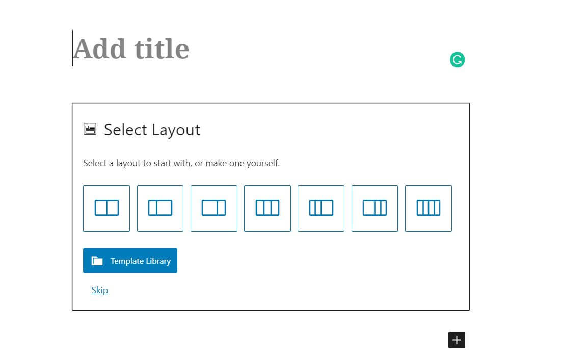 Selecting a page layout.