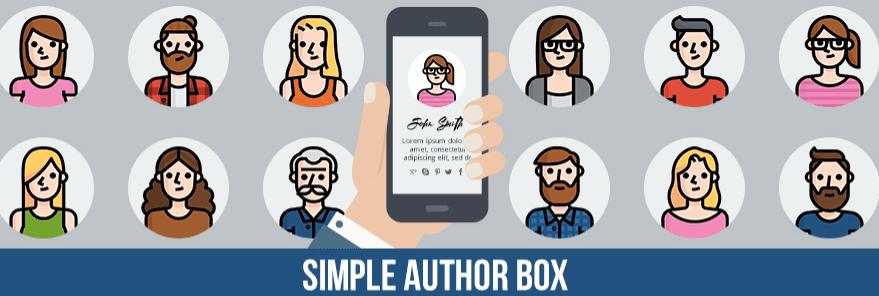 The Simple Author Box WordPress plugin.