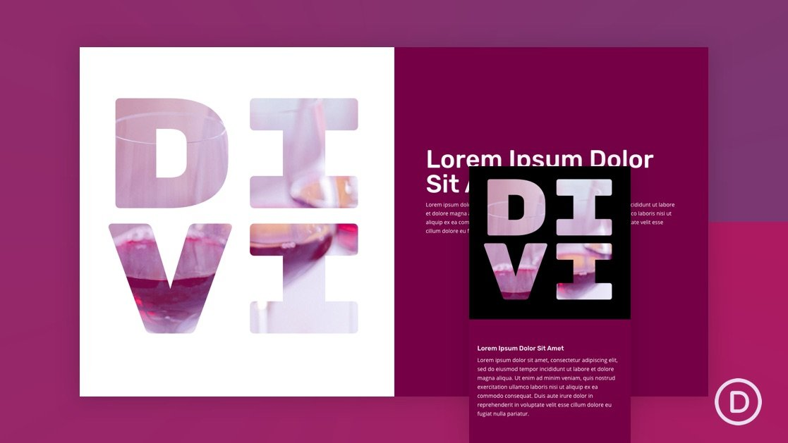 How to Design a Text Mask with Background Animation on Scroll in Divi