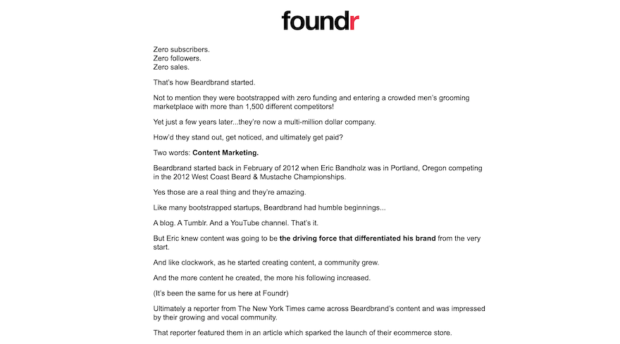 email layout examples