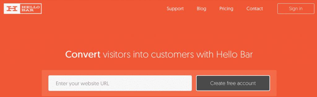 pop-up marketing tool