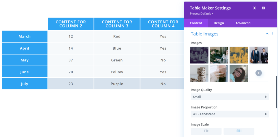 Table Images