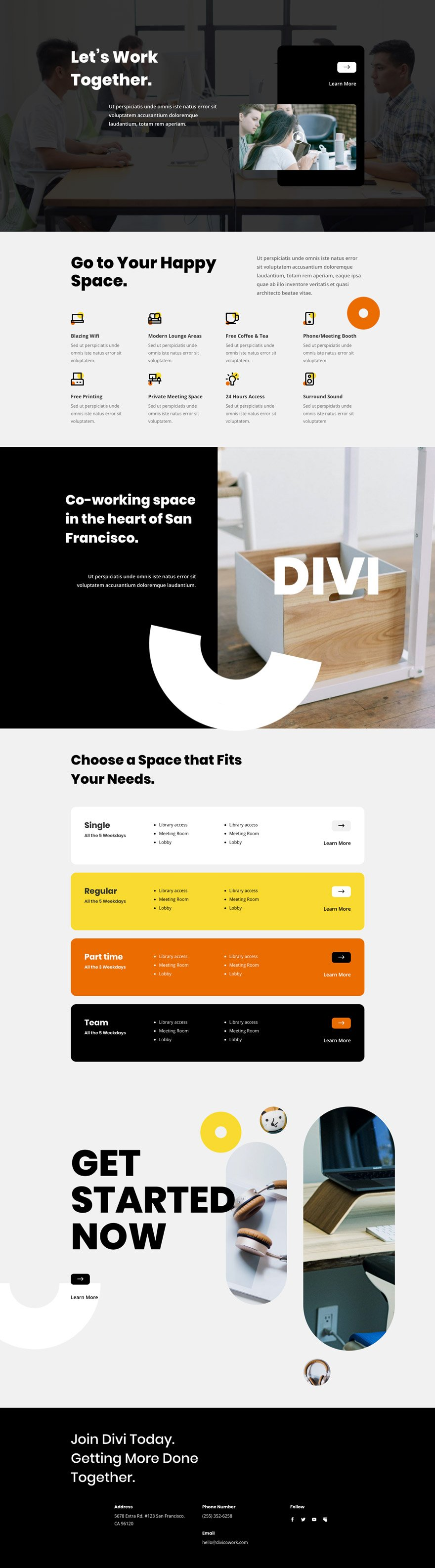 coworking space website space website