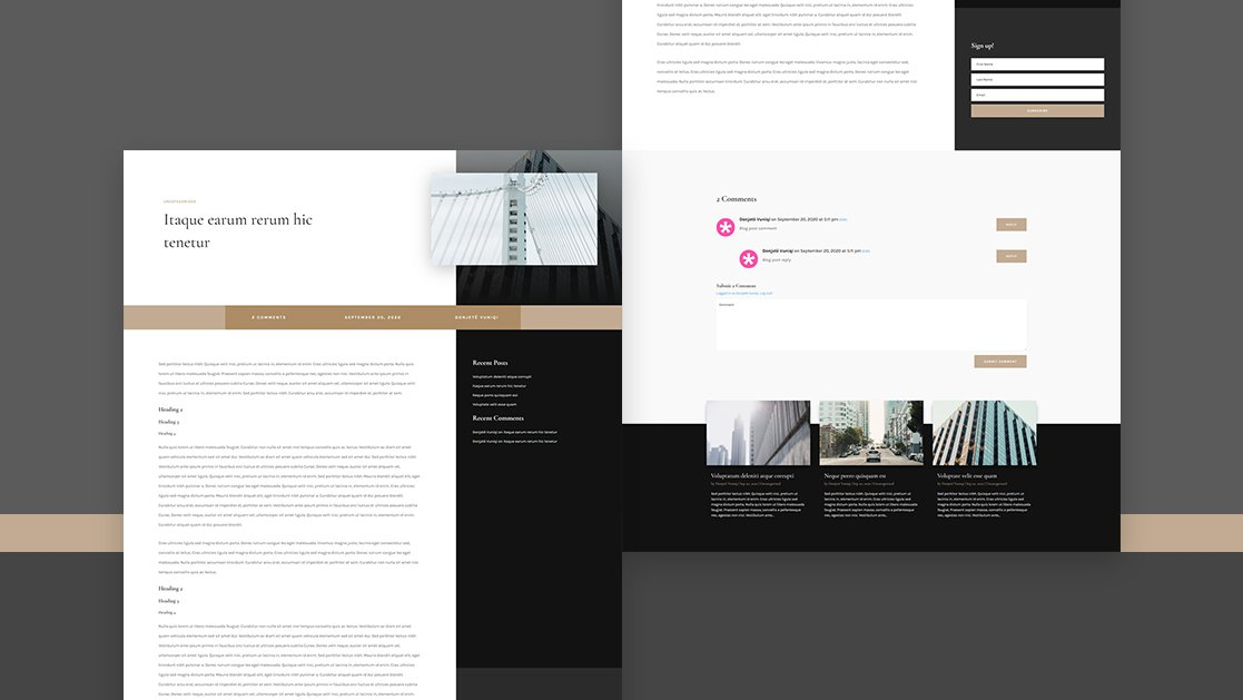 Download a FREE Blog Post Template for Divi's Architecture Firm Layout Pack