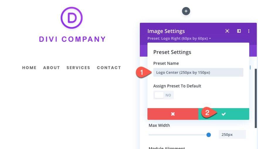 divi logo image global presets