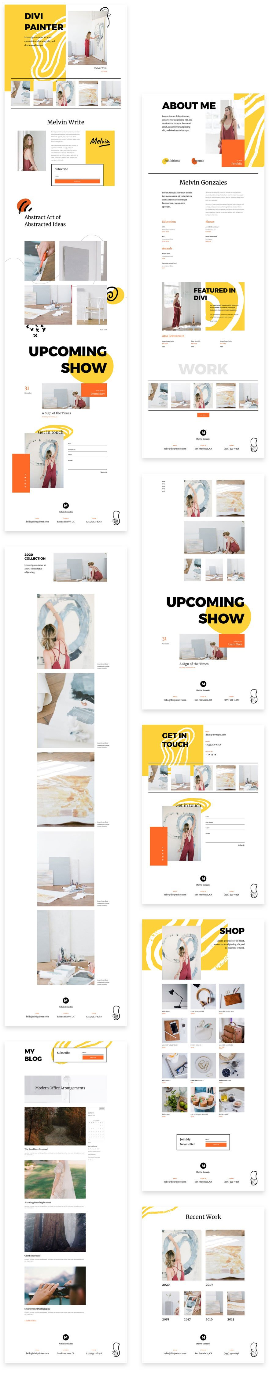 divi painter layout pack