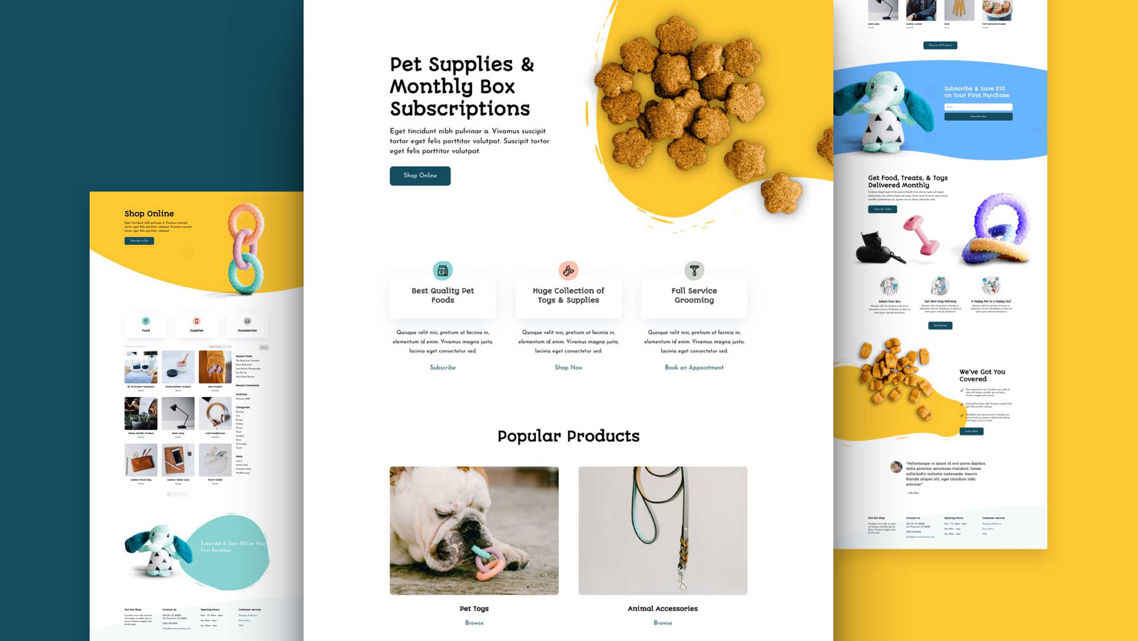 Get a FREE Pet Supply Layout Pack for Divi