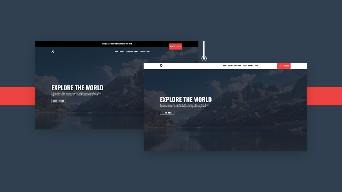 How to Make Your Transparent Header Sticky on Scroll with Divi