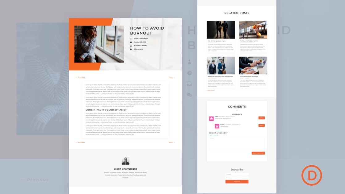 Download a FREE Blog Post Template for Divi's Copywriter Layout Pack