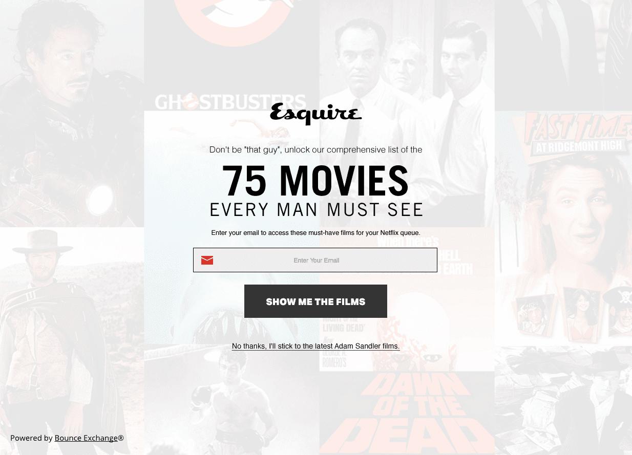 Esquire pop-ups