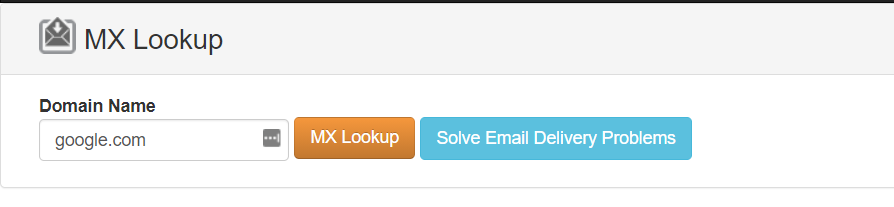 Using an MX record lookup service.