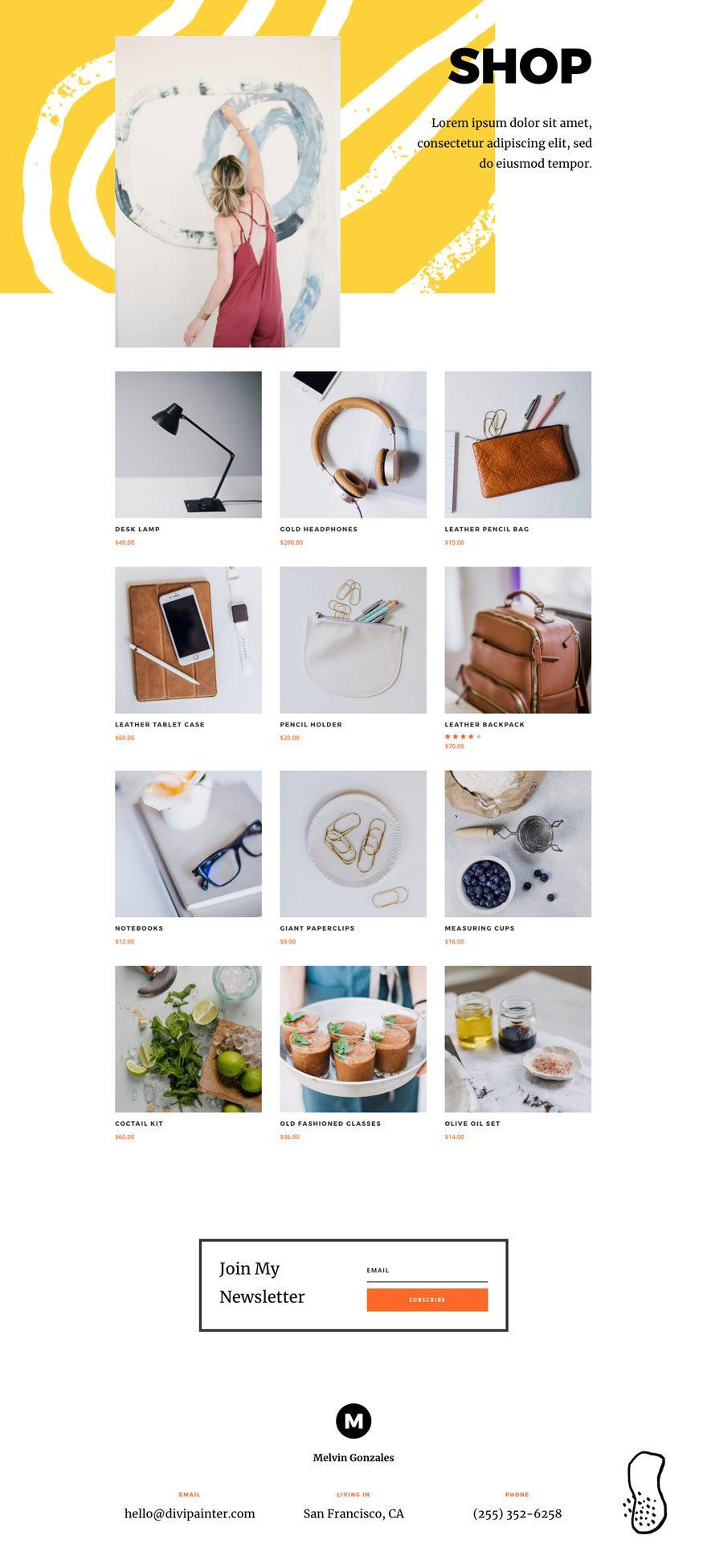 divi painter layout pack
