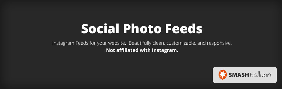 The Smash Balloon Social Photo Feed plugin.