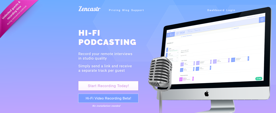 zencastr remote podcasting