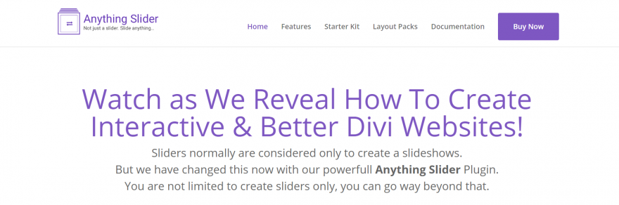 The Anything Slider home page.