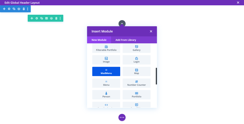 Divi Madmenu with the Divi Theme Builder