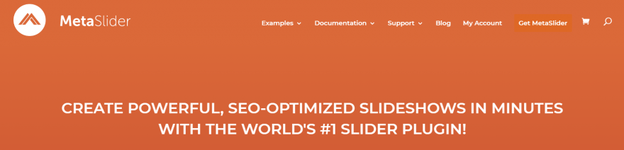 The Meta Slider home page.