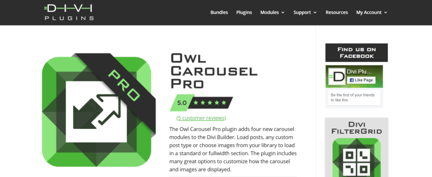 The Owl Carousel Pro plugin.