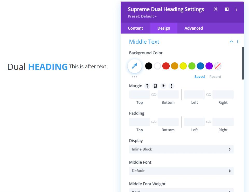 Supreme Dual Heading
