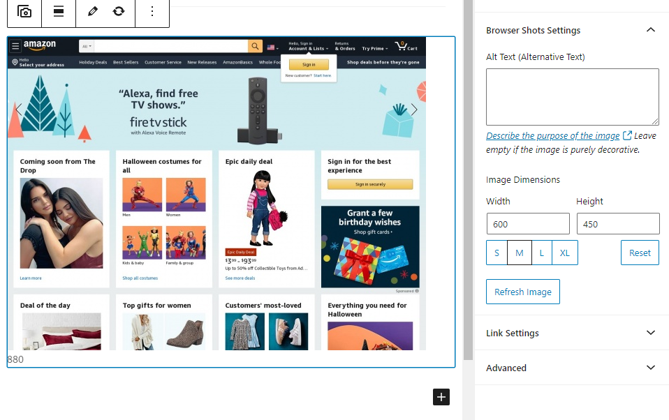 A browser screenshot of Amazon.
