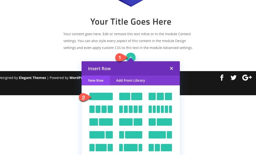 divi sticky cta menu on scroll