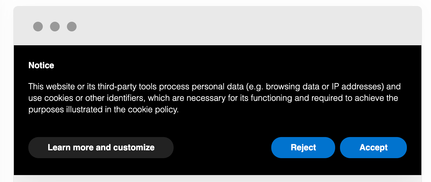 An example of a cookie opt-in.