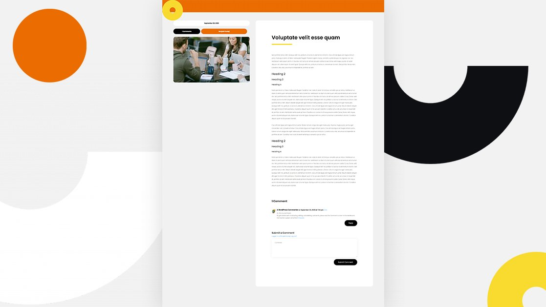 Get a FREE Blog Post Template for Divi's Coworking Space Layout Pack